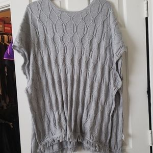 Gray poncho new without tags